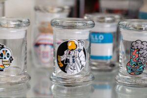 Vape Sticker Glass Jars Burnaby